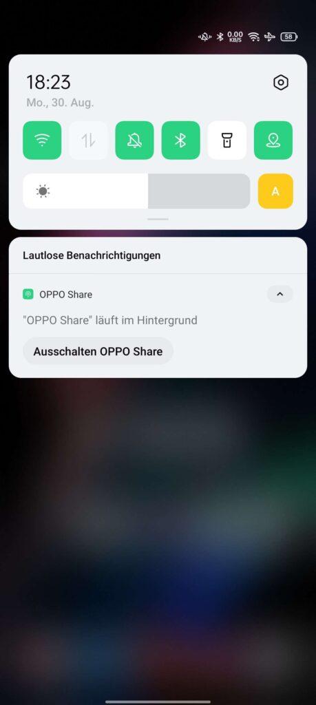 OPPO Share ist aktiv