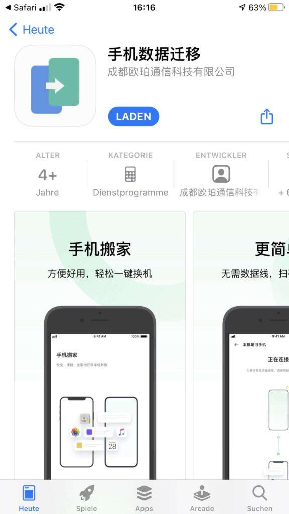 iPhone App - OPPO klonen